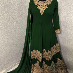Estimable Green Color Heavy Embroidery Work Salwar Suit